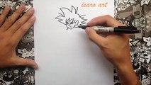 Como dibujar a goku la resurrección de freezer | how to draw goku the resurrection of freezer