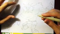 How To Draw Shocksquatch From Ben 10 Omniverse|Step By Step Easy