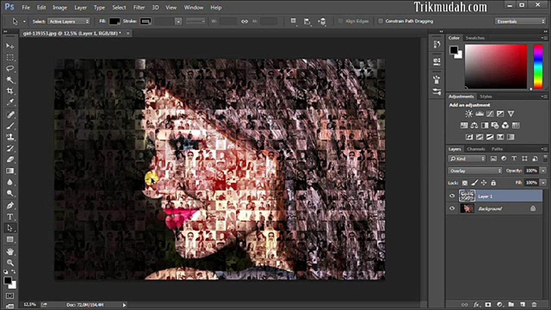 Cara Membuat Foto Mozaik Dengan Shop