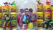 Mini Ninjalar Hiro ve suzume oyun hamuru dev sürpriz yumurta ve sürpriz oyuncaklar