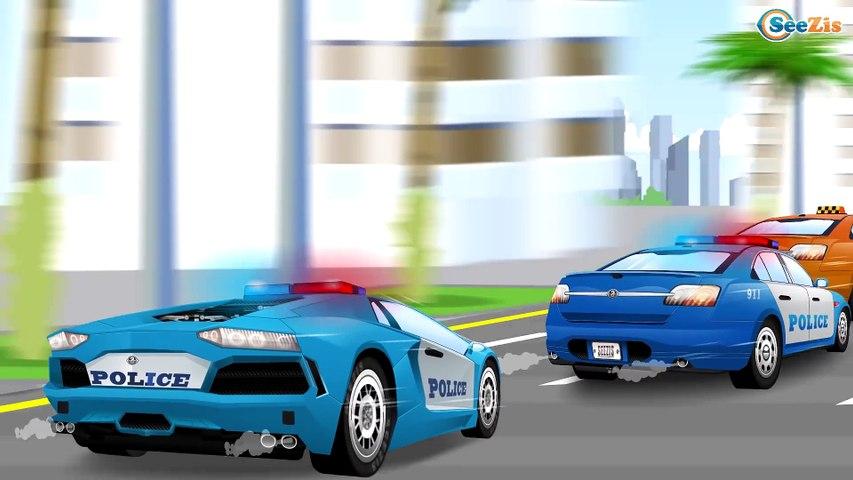 La Voiture de police pour Bébé - Dessin animé francais, voitures Policier et voitures Transport