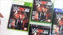 WWE 2k16 (Xbox One / Xbox 360 / PS3 / PS4) Unboxing!!!!