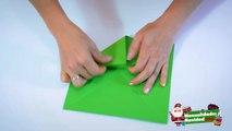 ORIGAMI / NAVIDAD: Caja navideña de papel para regalos