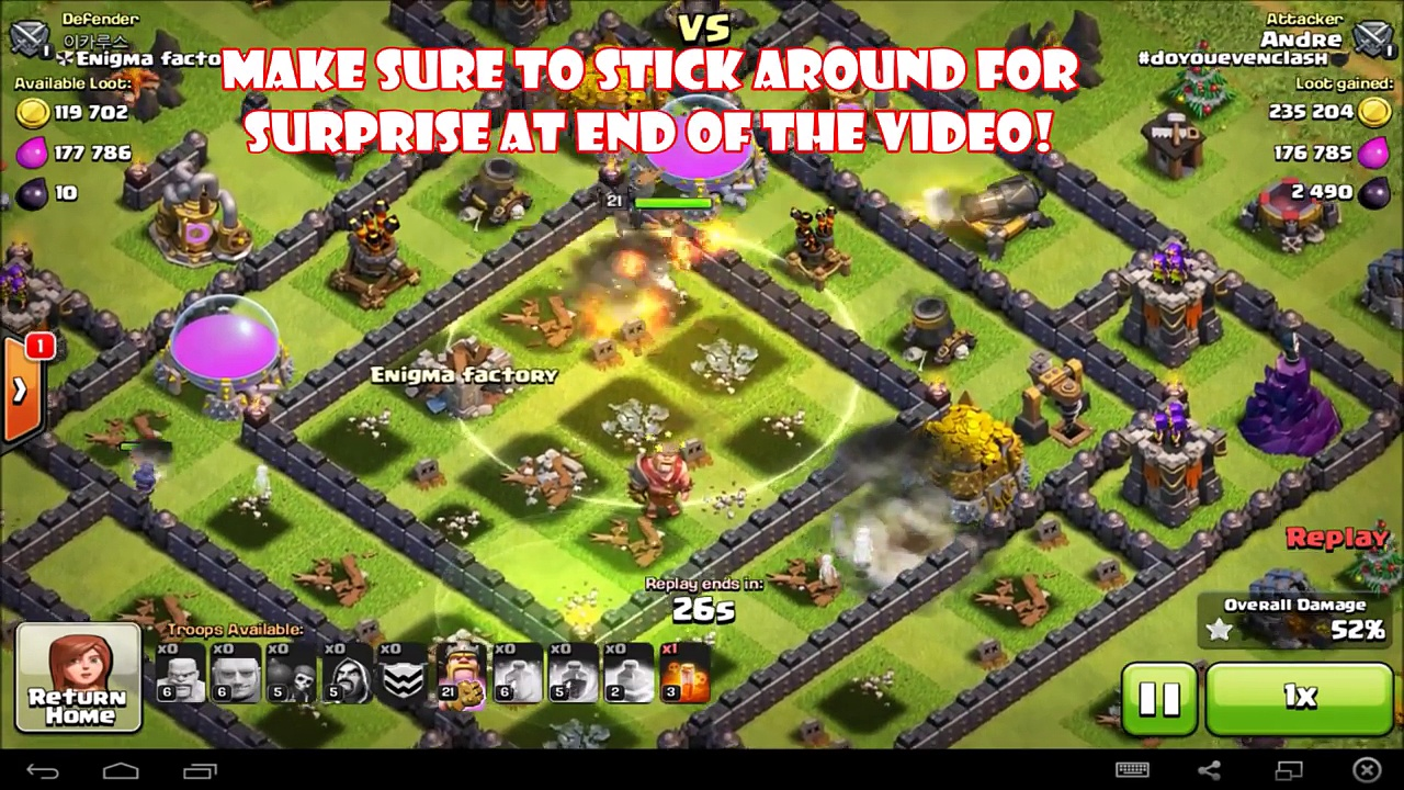 Best Dark Elixir Farming Strategy TH9 GiBarch with Wizards?! – Clash of Clans DE Farming #4