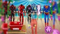 Ladybug Trabalha em Lavanderia e Lava Roupa das Vilões   Gameplay with Miraculous Ladybug Games