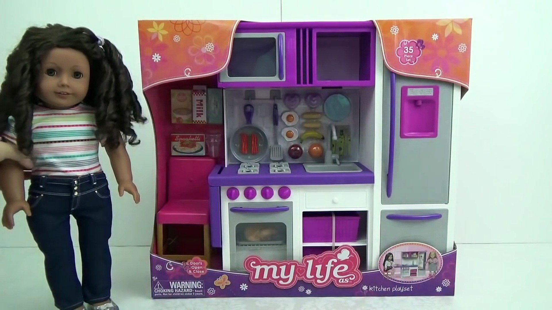 American Girl   My Life As KITCHEN Play Set   Opening & Review by request