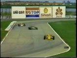 Gran Premio del Brasile 1987: Ritiro di T. Fabi e sua intervista, sorpasso di Prost a Mansell e pit stop di Mansell