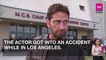 Gerard Butler Injured In Motorcycle Crash!