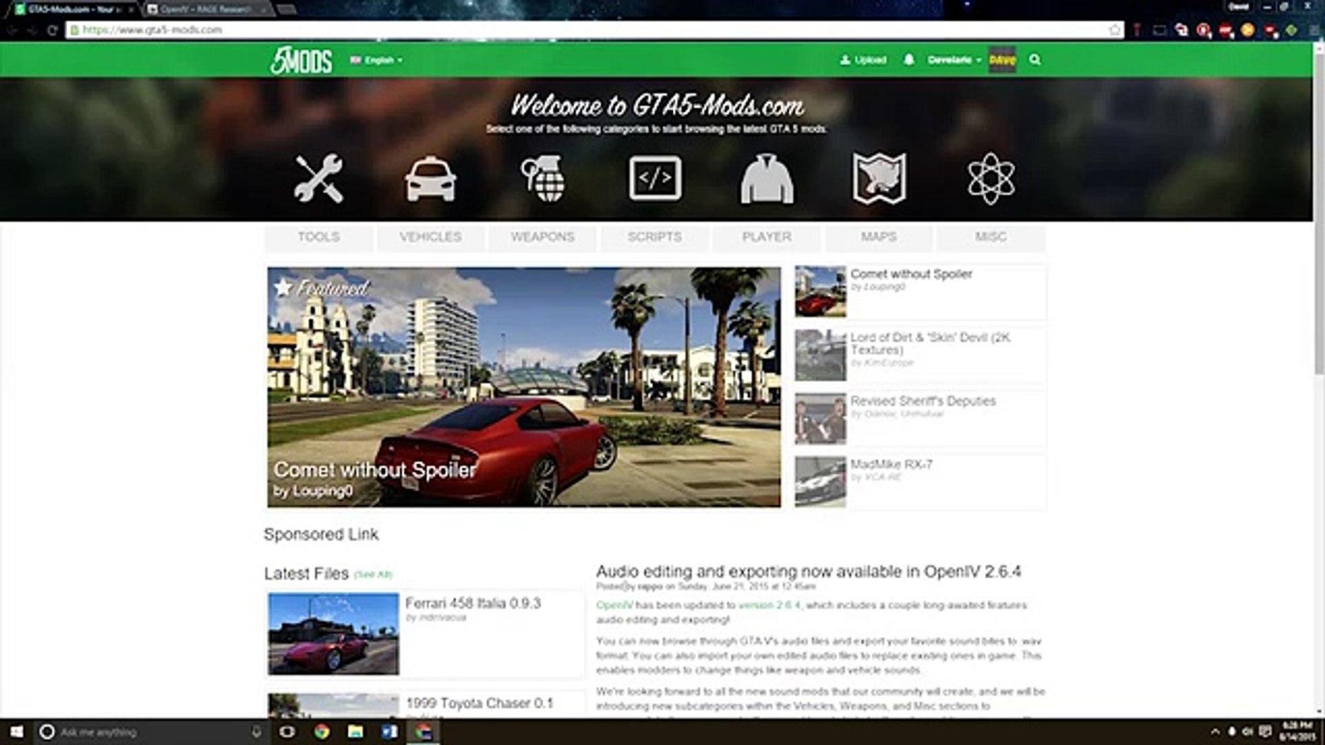 GTA V PC Mods | How to Install Car Mods (Real Cars!-Tutorial)