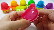 Learn Colors Play Doh Modelling Clay Animal Molds Finger Family Baby Nursery Rhymes For Kids