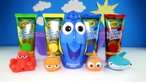 Finding Dory Bath Paint - Bath Tub Time with The Secret Life of Pets, Orbeez, Learning Colors