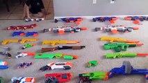 HUGE Gun Collection Part 1 - Rifles Pistols and More Toy Guns Nerf - Enorme colección Gun