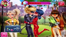 Miraculous Ladybug and Cat Noir Love Relationship - First Kiss - Ladybug Love Games Compilation