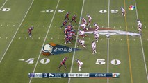 Denver Broncos wide receiver Emmanuel Sanders spins off defenders for 33-yard gain
