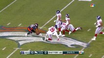Denver Broncos QB Trevor Siemian hits Virgil Green in stride for 24-yard gain