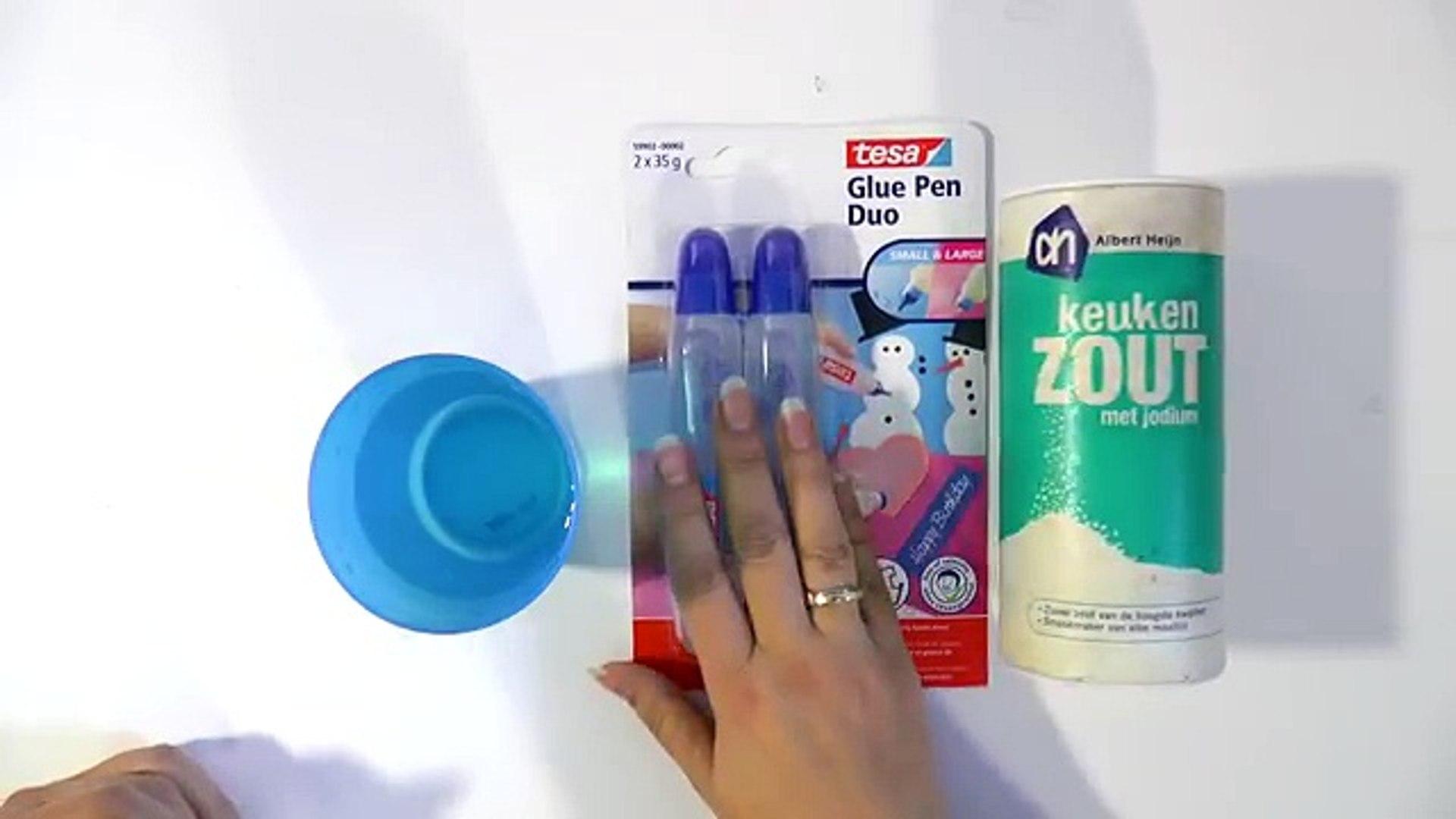 Slijm van water, lijm en zout maken - SLIME DIY (geen lensvloeistof! geen wasmiddel)