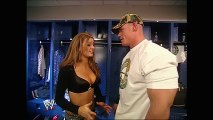 WWE John Cena calms Maria's nerves with a kiss_ latest