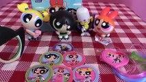 Mcdonalds Power Puff Girl Happy Meal toys + Mojo Jojo Ring Toss Game