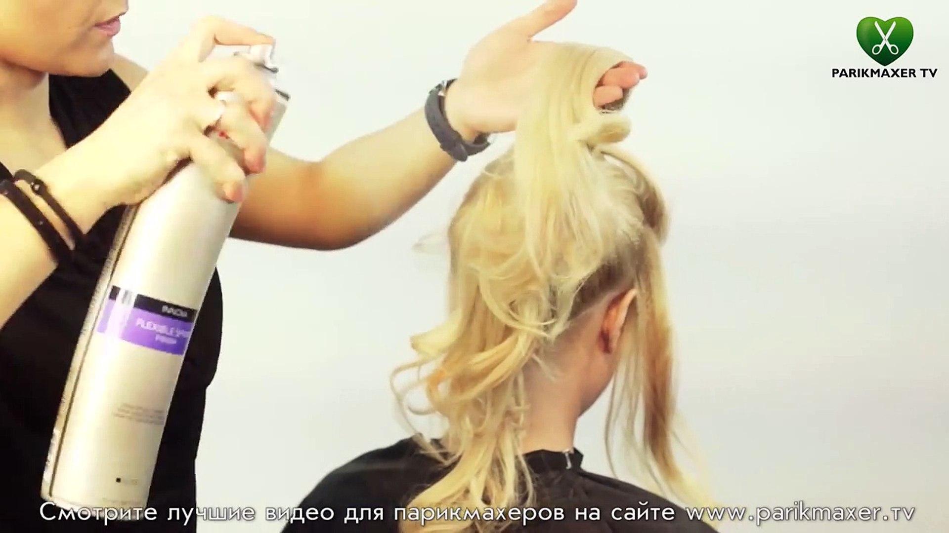 Свадебная прическа из локонов + гофре Wedding hairstyle. parikmaxer tv парикмахер тв