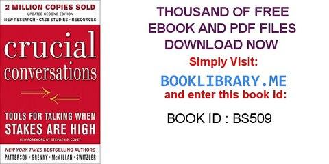 Crucial conversations pdf free download pdf