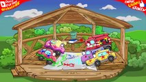 COOL Car Cartoon! Car Wheely with FRIENDS Play Different FUN GAMES in the WOODEN House #50 PlayLand