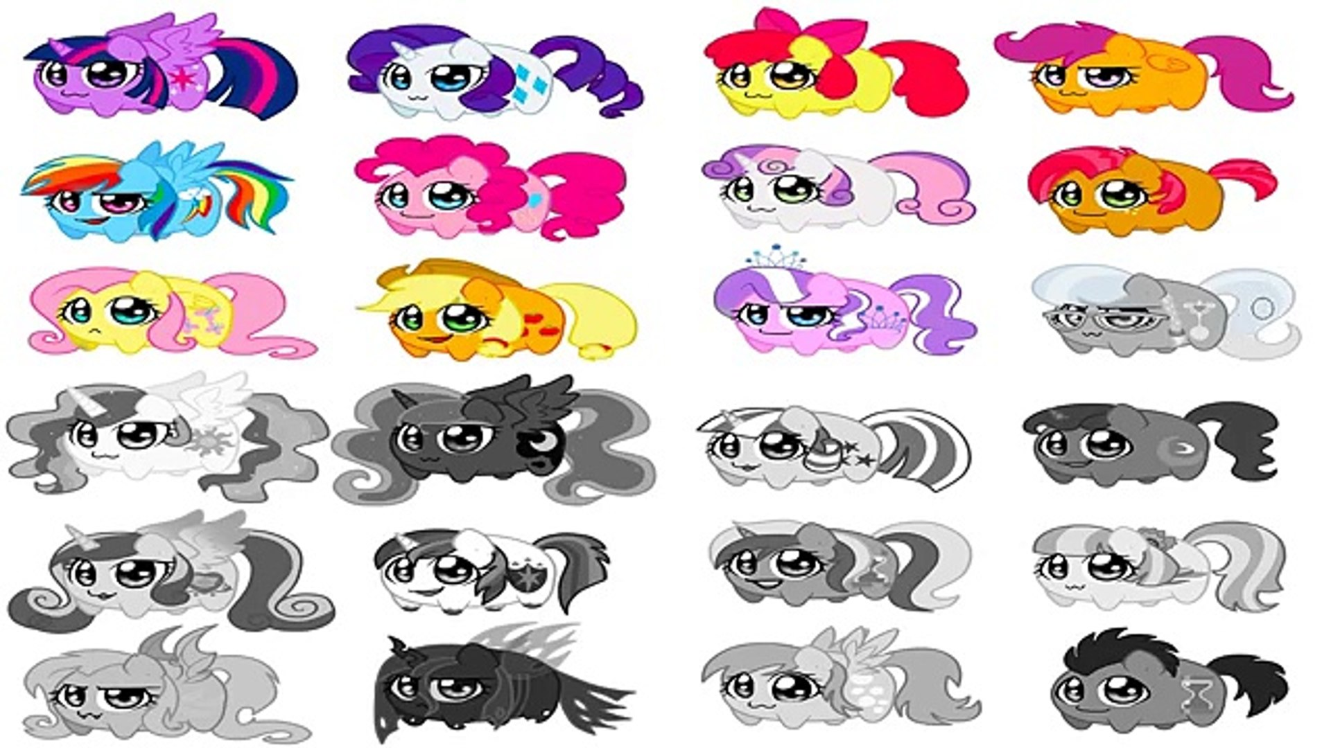 My Little Pony Coloring Book Chibi Ponies Coloring Page All Ponies Mlp Coloring Videos For Kids Ž±ç‰‡ Dailymotion