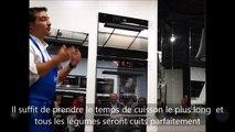 Four vapeur V-ZUG : fonction Air chaud+vapeur pour les legumes et le poisson