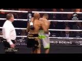 L'arbitre interrompt le combat, il met KO son adversaire.