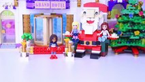 LEGO Friends build Giant Little Elf Helpers Grand Hotel Build Silly Play - Kids Toys