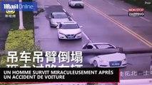 Un homme survit miraculeusement à un incroyable accident de voiture (Vidéo)