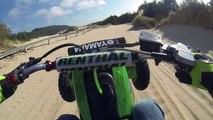 ATV Riding in the Sand Dunes PART 1 YFZ 450 sport quad Banshee 350 four wheeler GoPro Helmet Camera