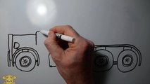 Learn How to Draw a Truck - Big Rig Drawing by LITTLE PUMA!