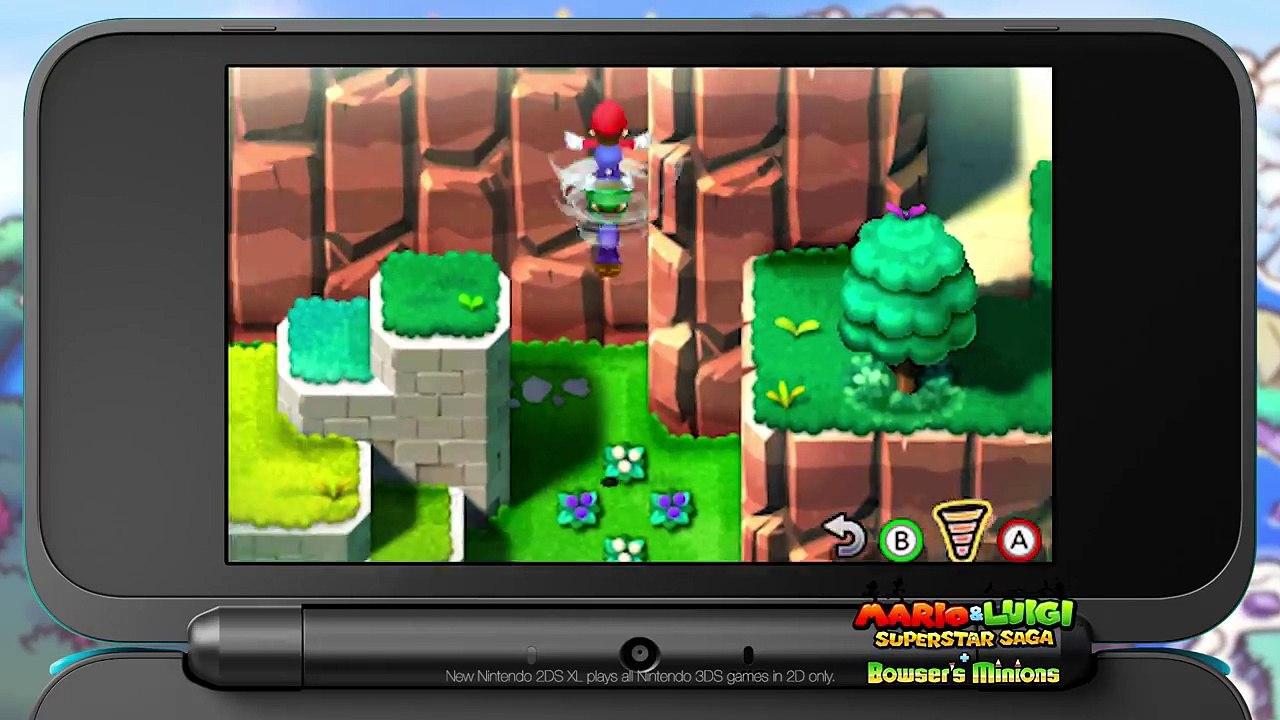 Mario Luigi Superstar Saga Bowser S Minions Brothers Trailer Nintendo 3ds