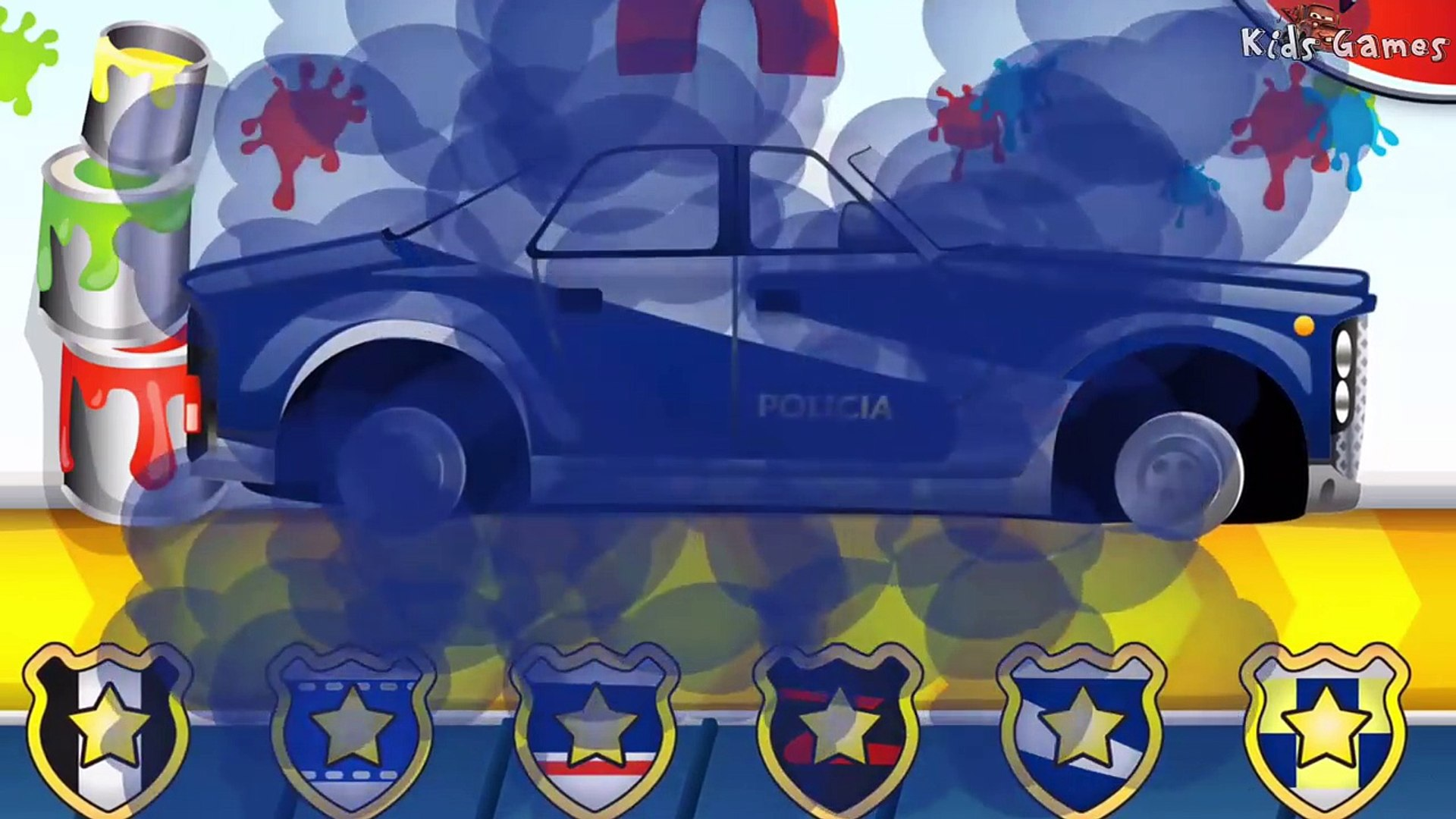 Car Fory - Builds Car | CAR WASH | Videos for kids | Videos For Children | Police Car for Kids