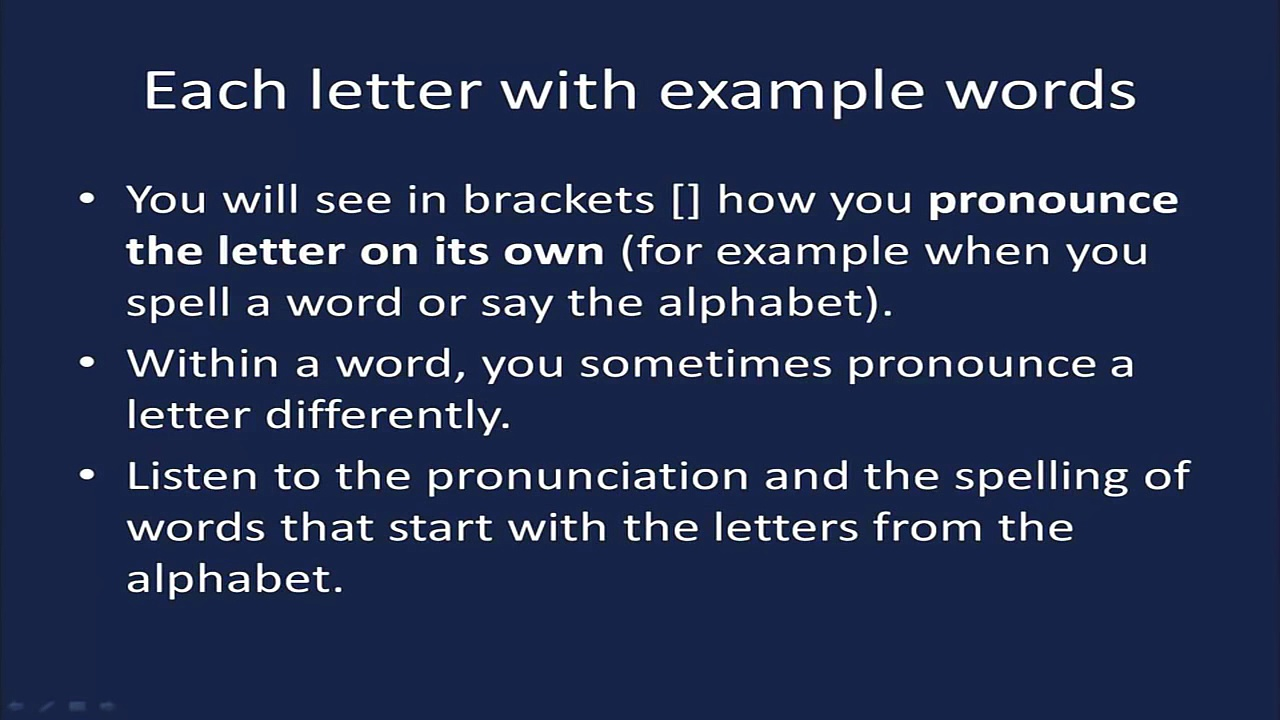 English Alphabet Pronunciation — Alphabet (ABC) Pronunciation
