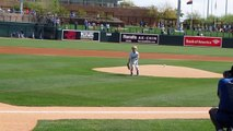 5 year old kid throws first pitch at MLB game 2014 - Christian Haupt baseball boy-7EXN5WR2jC0