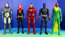 Marvel Avengers Titan Hero Series War Machine Marvels Vision Black Panther Iron Man & Black Widow