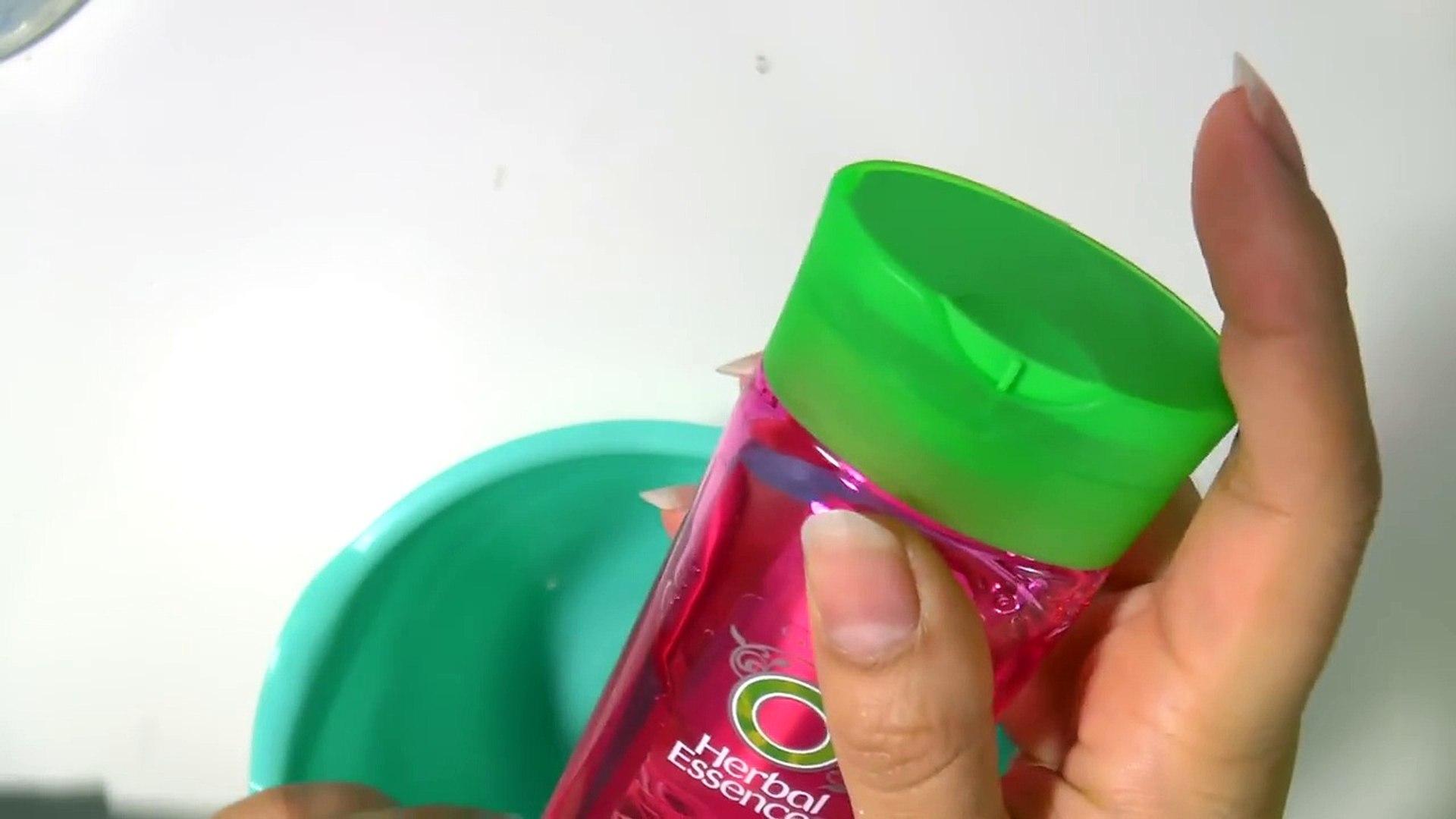 Hoe maak je slijm van shampoo zonder lijm, wasmiddel, lensvloeistof en Borax? POGING 1!