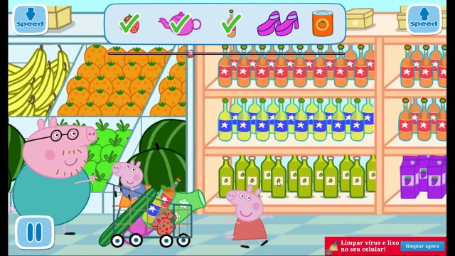 Peppa Pig english shopping in family new complete fun toys