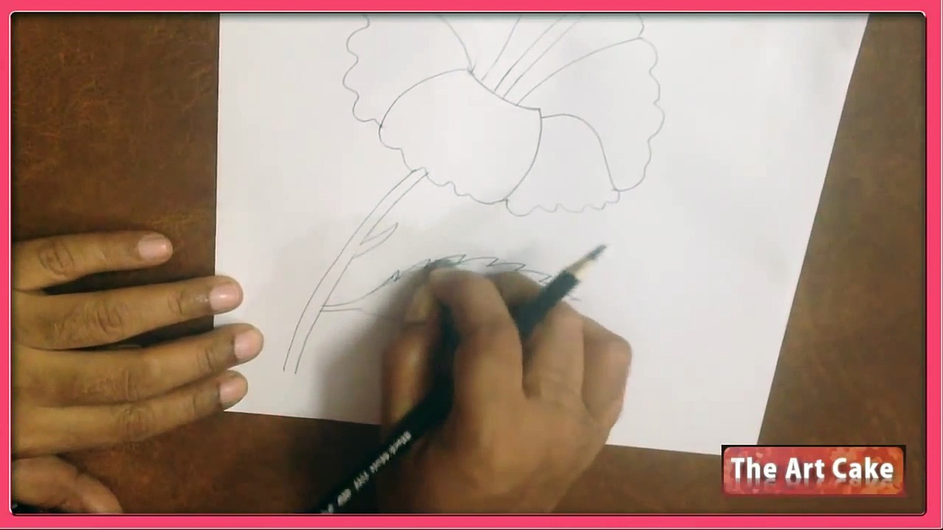 Hibiscus Flower Drawing How To Draw Hibiscus Flower Easy Flower Drawing For Children Video Dailymotion