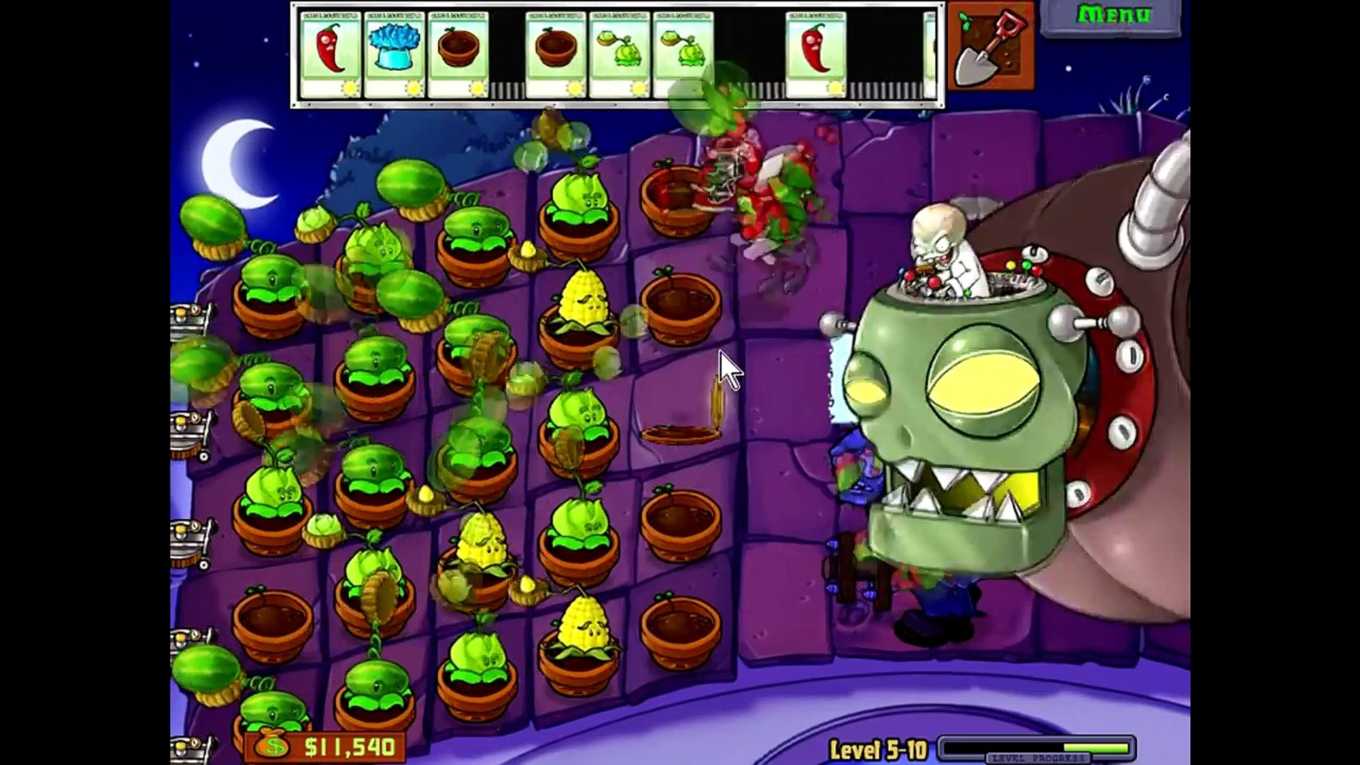 Plants Vs Zombies - Stage 5-10 Final Boss