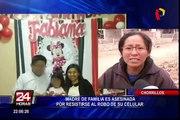 Chorrillos: vecinos solicitan mayor seguridad tras asesinato a joven madre