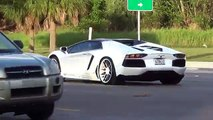 The Worlds Best Supercars Lamborghini Aventador traffic at Lamborghini Miami