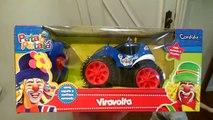 Patati Patatá Carro de Controle Remoto Viravolta Brinquedos do Patati Patatá Toys Juguetes