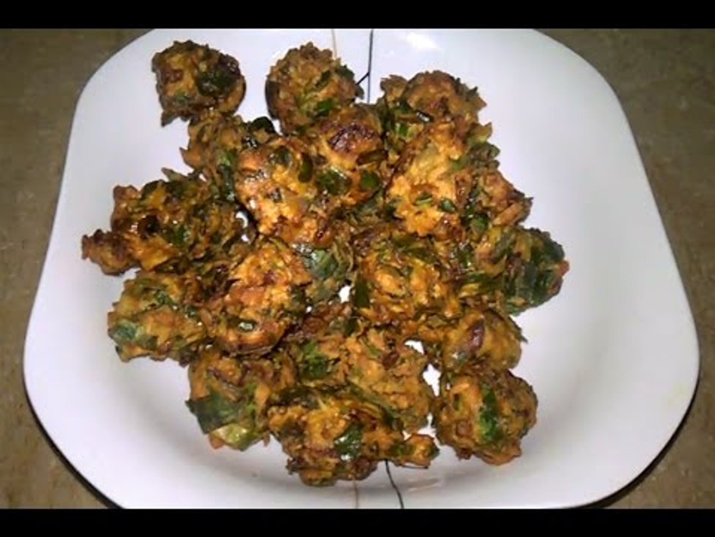 Palak pakora recipe |spinach fritters recipe |tea time snack recipes