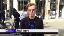 L'artiste Piotr Pavlenski met le feu à la façade de la Banque de France