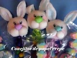 CONEJITO PARA BABY SHOWER (PAPEL CREPE) / PAPER BABY SHOWER BUNNY