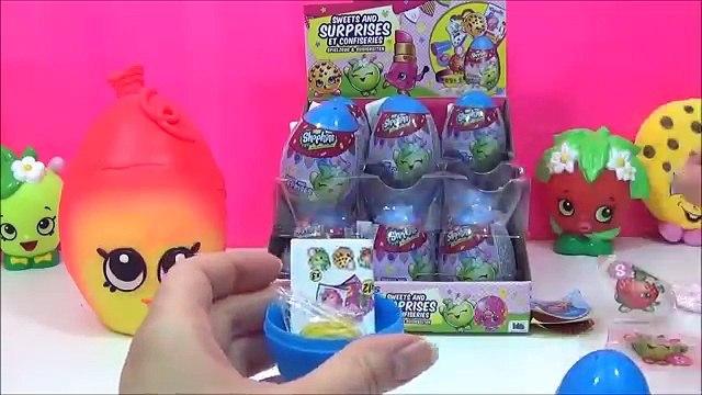 Shopkins Surprise Eggs with Sweets and Surprises! Shopkins Eggs, toys, Play Doh Huevos Sorpresa