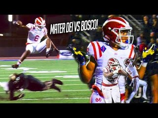 #1 Mater Dei CHALLENGED by #3 St John Bosco! JT Daniels Shows SPEED & Amon-Ra Does JORDAN SHRUG!