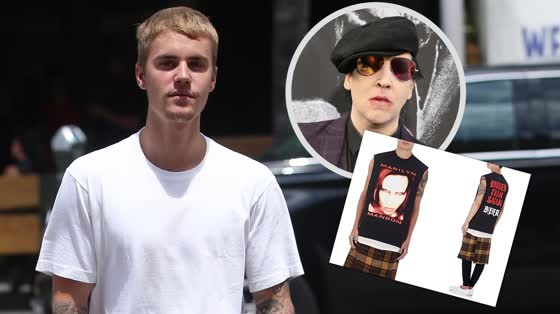Justin Bieber and Marilyn Manson's Beef Stems from a Shirt